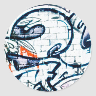 Abstract Graffiti on the brick wall Round Stickers