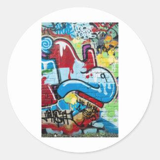 Abstract Graffiti on the Textured Brick Wall Sticker