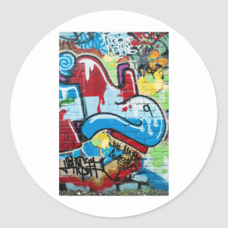Abstract Graffiti on the Textured Brick Wall Stickers