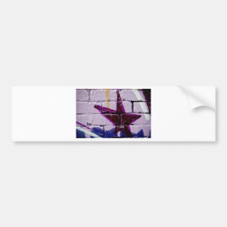 Abstract Graffiti Star on the textured wall Bumper Sticker