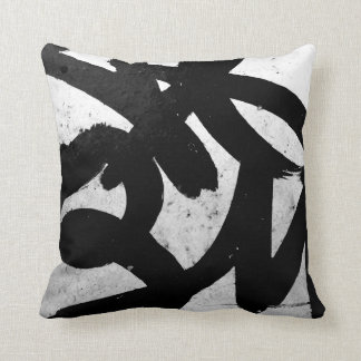 Abstract Graffiti Street Art Accent Pillow