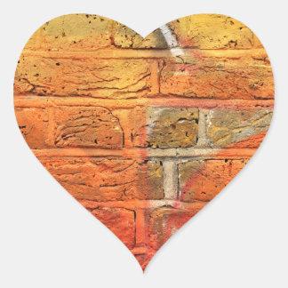 Abstract graffiti wall heart sticker