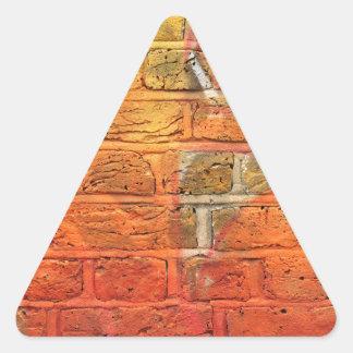 Abstract graffiti wall triangle sticker
