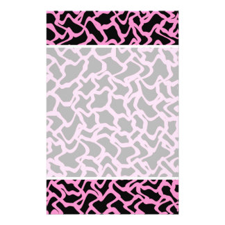 Abstract Graphic Pattern Black and Bright Pink Full Color Flyer