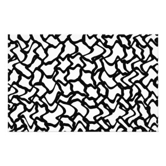 Abstract Graphic Pattern Black and White Personalized Flyer