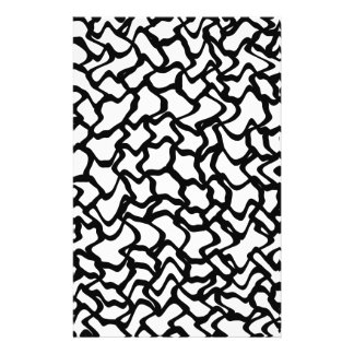 Abstract Graphic Pattern Black and White Full Color Flyer