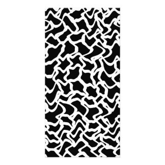 Abstract Graphic Pattern Black and White Photo Card Template