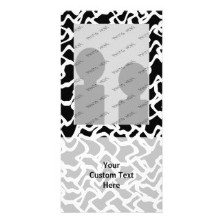 Abstract Graphic Pattern Black and White Photo Greeting Card