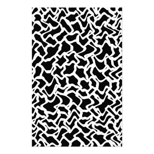 Abstract Graphic Pattern Black and White. Stationery Paper