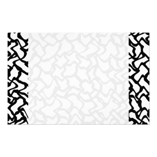 Abstract Graphic Pattern Black and White. Custom Stationery
