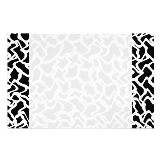 Abstract Graphic Pattern Black and White Stationery Paper