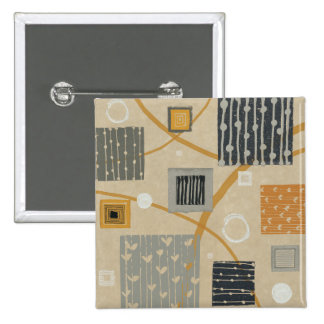 Abstract Graphic Tiles 15 Cm Square Badge
