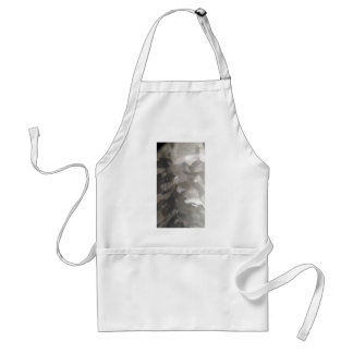 abstract gray and white metal apron