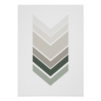 Abstract gray print. Modern geometric wall art