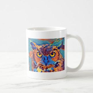 Abstract Great Horned Owl Coffee Mug