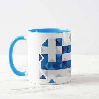 Abstract Greece Flag, Greek Artwork Mug