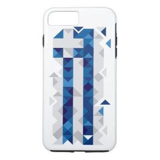 Abstract Greece Flag, Greek Artwork Phone Case