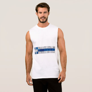 Abstract Greece Flag, Greek Artwork Polygon Shirt