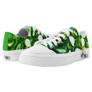 abstract green agates printed shoes