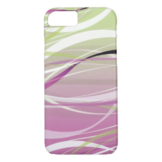 Abstract Green and Pink Waves Background iPhone 7 Case