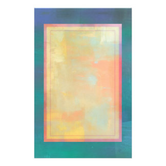 Abstract Green and Purple Serenity Stationery