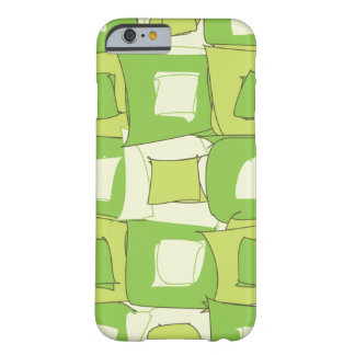 Abstract Green and White Color Design Barely There iPhone 6 Case