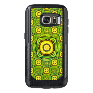 Abstract Green And Yellow Shell Like Design OtterBox Samsung Galaxy S7 Case