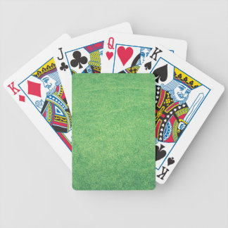Abstract green bicycle playing cards
