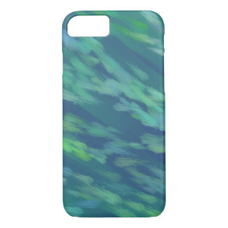 Abstract Green & Blue Oil Paint iPhone Case