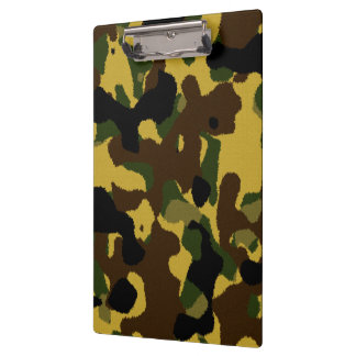 Abstract green brown yellow camouflage pattern clipboards