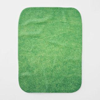 Abstract green burp cloth