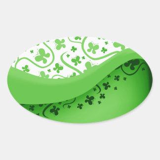 Abstract Green Butterflies Sticker