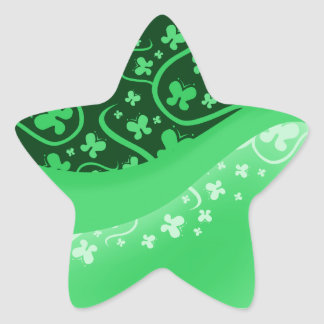 Abstract Green Butterflies Sticker