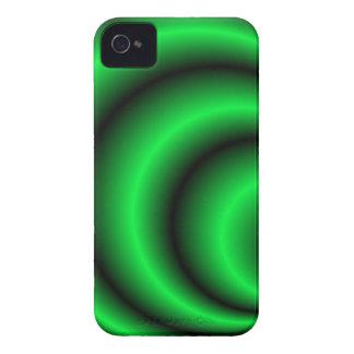 Abstract green circular waves BlackBerry Bold case