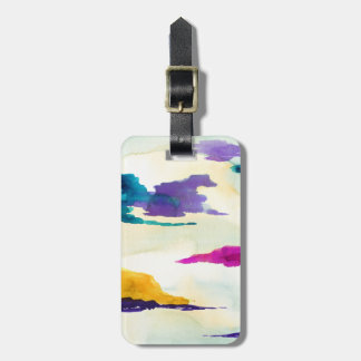 Abstract Green &Colour Pop Watercolour Luggage Tag