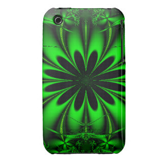 Abstract Green Fractal Jungle iPhone 3 Cover