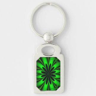 Abstract Green Fractal Jungle Key Ring