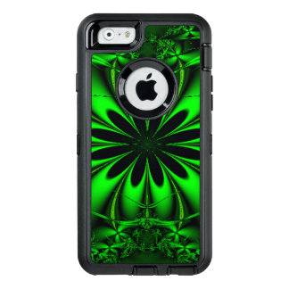 Abstract Green Fractal Jungle OtterBox Defender iPhone Case