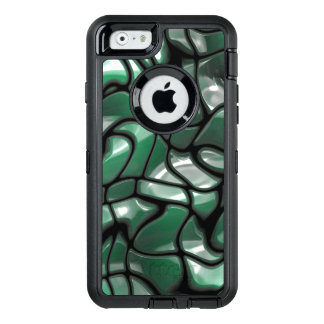 Abstract Green Gem Design OtterBox Defender iPhone Case