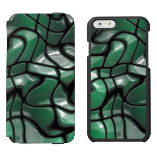 Abstract Green Gems Incipio Watson™ iPhone 6 Wallet Case