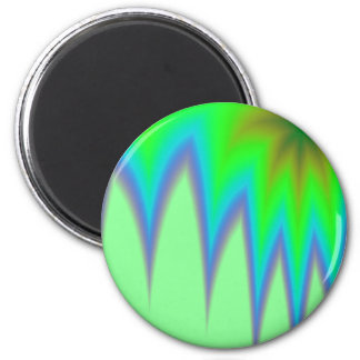 Abstract Green Grass Magnet