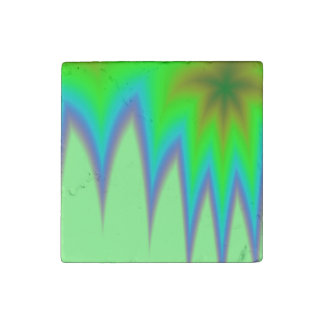 Abstract Green Grass Stone Magnet