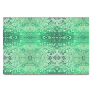 Abstract green jewel tone kaliedoscope bubbles tissue paper