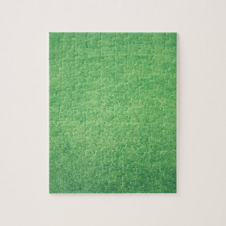 Abstract green jigsaw puzzle