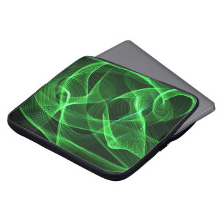 ABSTRACT green Laptop Sleeves