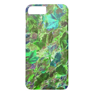 Abstract Green Leaves Pattern iPhone 7 Plus Case
