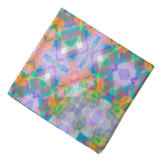 Abstract Green Light Blue And Pink Background Do-rags