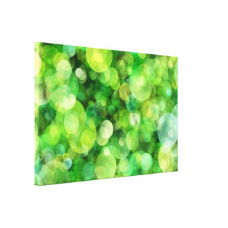 Abstract Green Lights Stretched Canvas Print