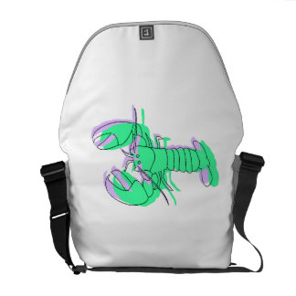 Abstract Green Lobster Courier Bag