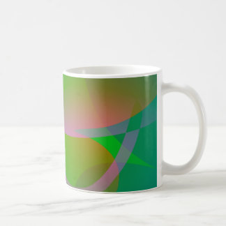 Abstract Green Lotus Leaf Mugs